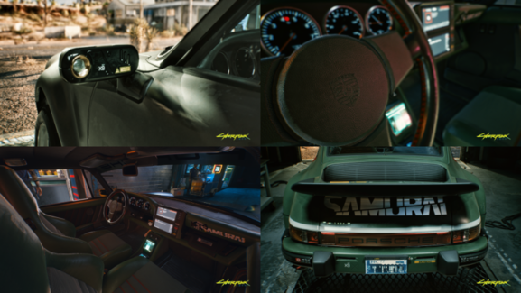 Cyberpunk 2077 con el Porsche 911 Turbo