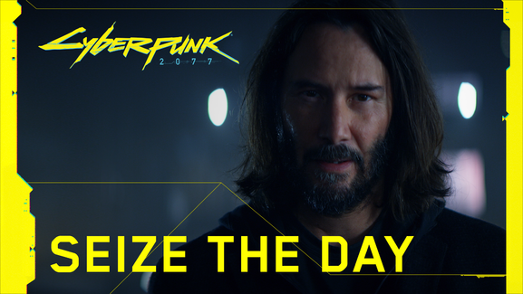 anuncio de cyberpunk 2077 con Keanu Reeves